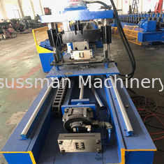 Metal Customize Strut Slotted Furring Channel Purlin Roll Forming Machine With Gear Box Device