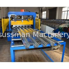 10m/Min HRC58 Floor Deck Roll Forming Machine Chain drive system