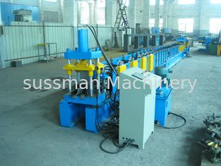 China 56mm Width Door Frame Roll Forming Machine With 6m Run Out Table supplier