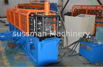 China Durable Omega  Shape Metal Stud Roll Forming Machine / 5.5KW Main Motor Power Furring Channel Equipment supplier