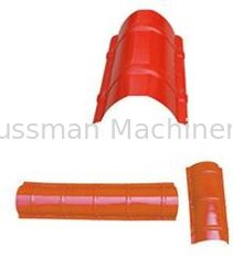 China Colour sheet Big Round Ridge Capping Cold Roll Forming Machine Panasonic PLC Control High Speed supplier