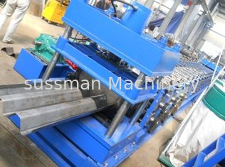 China Hydraulic power 5.5KW guard railway roll forming machine electric computer fully Automatic supplier