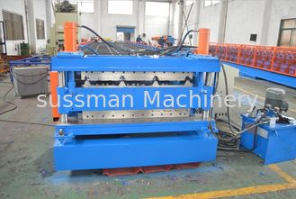 China Quenching Treated Durable Steel Double Layer Roll Forming Machine PLC Control System supplier