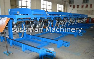 China 12 Meters  Auto Stacker For Roll Forming Equipment Conveyer Belt Speed 36m / min supplier
