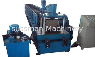 China Touch Screen PLC Control Roof Gutter Making Machine Plate Roll Forming Machine supplier