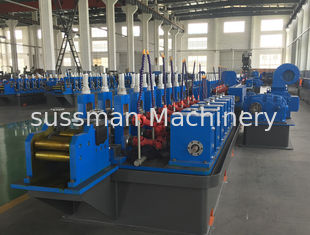 High speed 8-32mm Welding Pipe Round Square Tube Making Machine With Fly Saw Cutting And Water Cooling