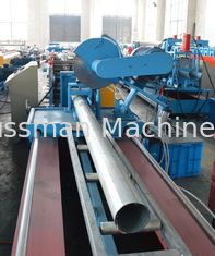China 1.5mm Thick Cold Steel Seamless Roundpipe  Roll Forming Machine High Speed Control Flying Saw Cutting supplier