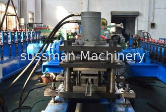 China PLC Control 2 - 4m/min Hydraulic Punching Roll Forming Equipment Solar Strut 13 Roller Stations supplier