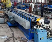 China Fly Saw Cutting Rectangle Welding Tube Roll Forming Machine with Punching Press Machine factory