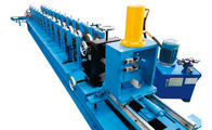 China 3 Inch Galvanized Steel Profile Roller Shutter Door Guide Rail Roll Forming Machine With PLC Control factory