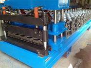 China Automatic Roof Panel Roll Forming Machine , Steel Metal Glazed Step Tile Making Machine factory