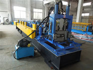 China CZ Purlin Roll Forming Machine With Gcr15 Roller / Chain Drive PLC Control factory
