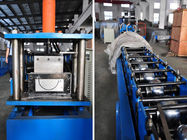 China 0.4-0.8mm Thickness Half Round Gutter Roll Forming Machine High Speed 10-15m/min factory
