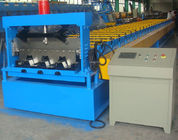 Automatic Floor Deck Roll Forming Machine , Steel Rolling Machine High Efficiency