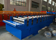 China 7.5Kw Main motor power Roof Tile Roll Forming Machine with 12-15m/min factory