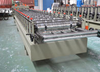 China Color Glazed Tile Making Machine , Steel Tile Roll Forming Machine With Press Mould factory