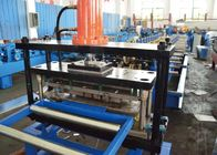 China PLC Control Shelf Box Metal Roll Forming Systems 3-5 M/ Min Speed With Hydraulic Cutting factory