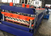 China PPGI Steel Metal Roof Panel Roll Forming Machine 16 Rollers , 0.3-0.8mm Thickness factory