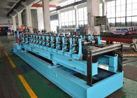China PLC Control 20 Stations CZ Purlin Roll Forming Machine With 12-15m / Min Speed factory