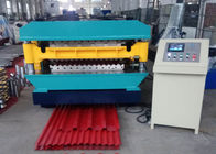 20 Roller Stations 2 Layer Roof Panel Roll Forming Machine For Roof Struction