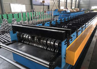 China Building Material Metal Floor Decking Sheet Roll Forming Machine With Embossing Roller factory