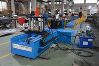 PLC control Rack Roll Forming Machine with High Speed Punching Press Machine