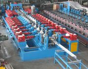 China 4mm Thickness Galvanized Steel C Z Purlin Roll Forming Machine with Gearbox transmission 17 steps of forming factory