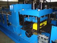 China 18 Roller Stations Cold Steel Z Purlin Roll Forming Machine Touch Screen PLC Control factory