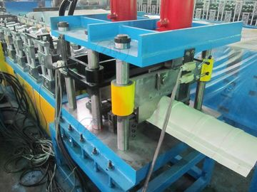 China 4Kw Cr12 Quenching Treatment Blad Ridge Cap Roll Forming Machine PLC Control System distributor