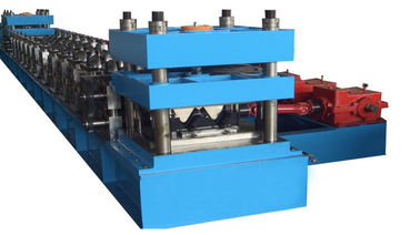 China Two Waves 2mm-4mm Sheet Thickness Highway Guard Rail Roll Forming Machine With Line Speed 5 - 20m/min distributor