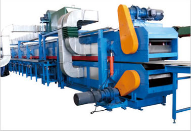 China Matertial Width 1000mm 10 Ton Hydraulic Decoiler Steel Sheet PU Foam Sandwich Panel Line 8m/min Speed distributor