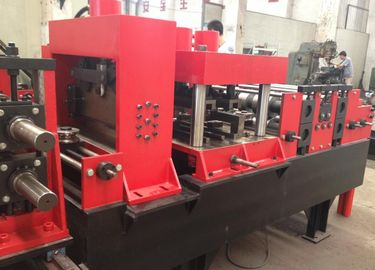 China Automatical C U  Purlin Roll forming Machine With Servo Feeding and Punching distributor