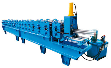China 12 Stations Fly Saw Cutting Shutter Door Roll Forming Machine Shutter Door Edge Covering factory