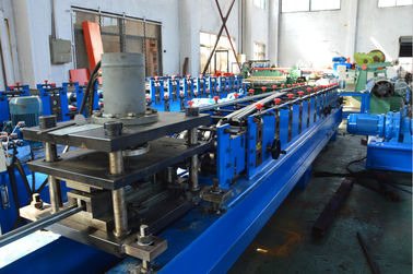 China 0.5-1mm Galvanized Steel Grage Door Track Roll Forming Machine 16 Stations Durable factory