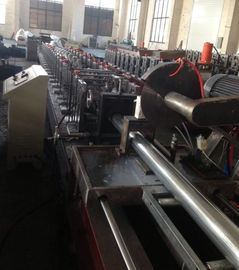 China 7.5KW Shutter Door Roll Forming Machine GCr15 Steel Roller Blind Tube Production Line factory