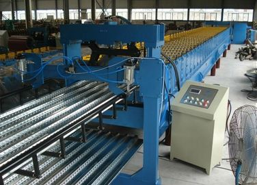 China 0.7-1.5 Thickness Steel Roof Floor Deck Steel Roll Forming Machine For Construction High Speed Production Line distributor