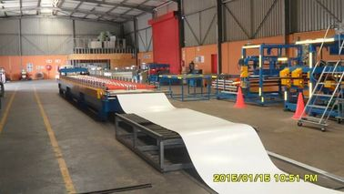 Galvanized Steel Roof Panel Roll Forming Machine 18 Roller Stations 8 - 10 M / Min