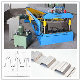 China Chain Drive System Floor Deck Roll Forming Machine For Galvanized Cold  Steel Sheet factory