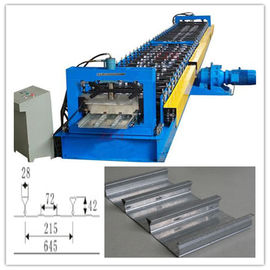 China 28 Roller Stations Floor Deck Roll Forming Machine With Hydraulic Cutting factory