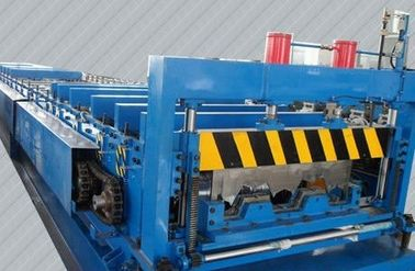 China Material Thickness 0.5--3mm Deck Floor Roll Forming Machine 8 Tons 28 Stations factory