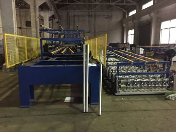 Color Coating Coil Material PU Sandwich Panel Production Line Driven Power 7.5 KW