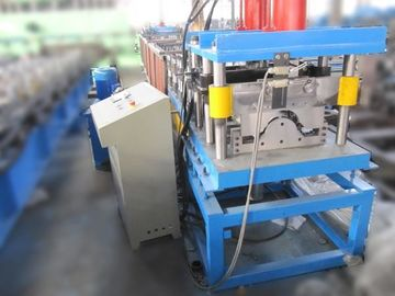 China 3T 4KW Ridge Cap Roll Forming Machine Hydraulic Cutting PLC Touch Screen Control factory