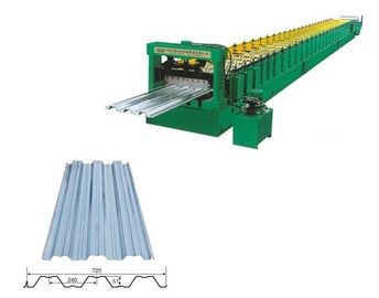 China 22KW Gearbox Drive Metal Deck Roll Forming Machine With 5T Manual Uncoiler factory