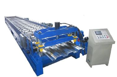 8T Floor Deck Roll Forming Machine 45# Steel With Quenching 60mm Shaft Chain Drive