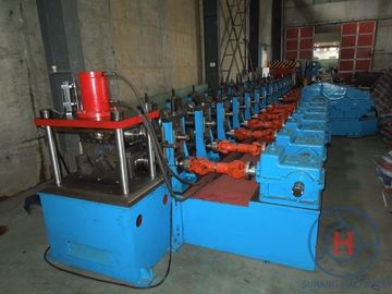 China Adjustable 2&3 Waves Guard Railway Roll Forming Machine Galvanized Iron Sheet factory