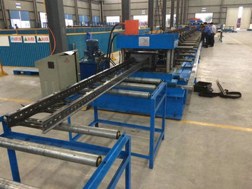 China Steel Channel Ladder Cable Tray Making Cold Roll Forming Machine 10 - 12 m / min distributor