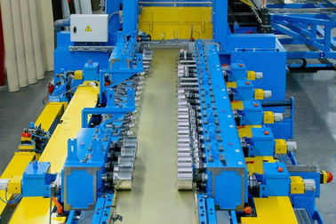 China Blue 20 Station Cable Tray Roll Forming Machine 1.8-3.0mm Thickness factory