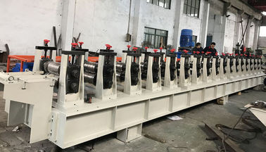 China 11KW 0.8-1.5mm Galvanized Steel Guide Rail Roll Forming Machine 22 Stations distributor