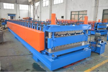 China Double Layer Roll Forming Machine for Wall Panel and Tile Roof Panel with PLC Control distributor