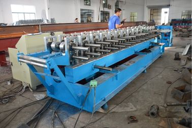 China Roller Material GCr15 Door Frame Roll Forming Machine with Hydraulic Cutting factory